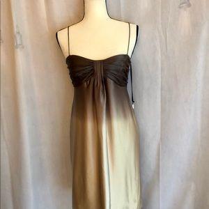 NWT Calvin Klein ombré brown sleeveless dress